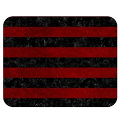 Stripes2 Black Marble & Red Grunge Double Sided Flano Blanket (medium)  by trendistuff