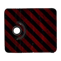Stripes3 Black Marble & Red Grunge Galaxy S3 (flip/folio) by trendistuff