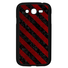 Stripes3 Black Marble & Red Grunge Samsung Galaxy Grand Duos I9082 Case (black) by trendistuff