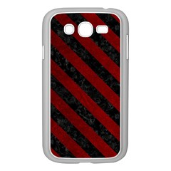 Stripes3 Black Marble & Red Grunge Samsung Galaxy Grand Duos I9082 Case (white) by trendistuff