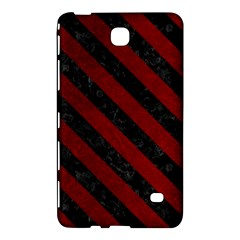 Stripes3 Black Marble & Red Grunge Samsung Galaxy Tab 4 (8 ) Hardshell Case  by trendistuff