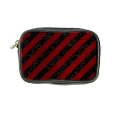 Stripes3 Black Marble & Red Grunge (r) Coin Purse by trendistuff