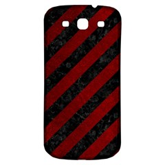 Stripes3 Black Marble & Red Grunge (r) Samsung Galaxy S3 S Iii Classic Hardshell Back Case by trendistuff