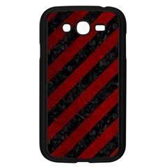 Stripes3 Black Marble & Red Grunge (r) Samsung Galaxy Grand Duos I9082 Case (black) by trendistuff