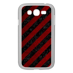 Stripes3 Black Marble & Red Grunge (r) Samsung Galaxy Grand Duos I9082 Case (white) by trendistuff