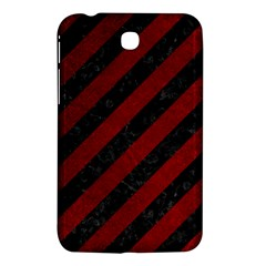 Stripes3 Black Marble & Red Grunge (r) Samsung Galaxy Tab 3 (7 ) P3200 Hardshell Case  by trendistuff