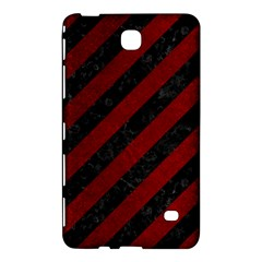 Stripes3 Black Marble & Red Grunge (r) Samsung Galaxy Tab 4 (7 ) Hardshell Case  by trendistuff