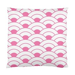 Art Deco Shell Pink White Standard Cushion Case (one Side) by 8fugoso
