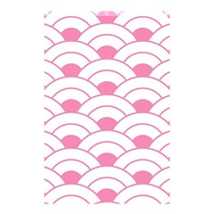 Art Deco Shell Pink White Shower Curtain 48  X 72  (small)  by 8fugoso