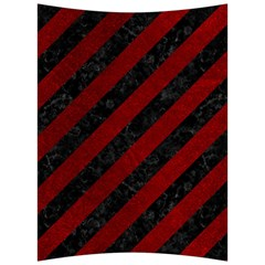 Stripes3 Black Marble & Red Grunge (r) Back Support Cushion by trendistuff