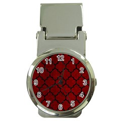 Tile1 Black Marble & Red Grunge Money Clip Watches by trendistuff