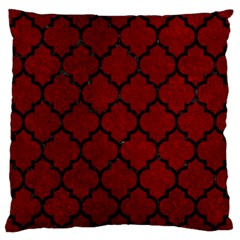 Tile1 Black Marble & Red Grunge Standard Flano Cushion Case (two Sides) by trendistuff