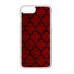 Tile1 Black Marble & Red Grunge Apple Iphone 7 Plus White Seamless Case by trendistuff