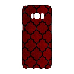 Tile1 Black Marble & Red Grunge Samsung Galaxy S8 Hardshell Case  by trendistuff