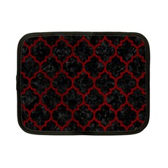 Tile1 Black Marble & Red Grunge (r) Netbook Case (small)  by trendistuff
