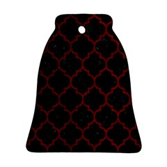 Tile1 Black Marble & Red Grunge (r) Bell Ornament (two Sides) by trendistuff