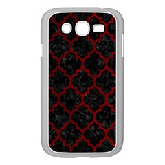 Tile1 Black Marble & Red Grunge (r) Samsung Galaxy Grand Duos I9082 Case (white) by trendistuff