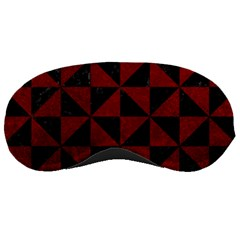 Triangle1 Black Marble & Red Grunge Sleeping Masks by trendistuff
