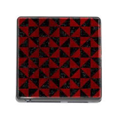 Triangle1 Black Marble & Red Grunge Memory Card Reader (square) by trendistuff