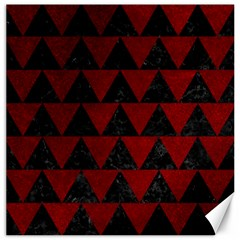 Triangle2 Black Marble & Red Grunge Canvas 20  X 20   by trendistuff