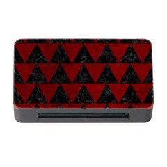 Triangle2 Black Marble & Red Grunge Memory Card Reader With Cf by trendistuff