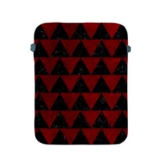 Triangle2 Black Marble & Red Grunge Apple Ipad 2/3/4 Protective Soft Cases by trendistuff