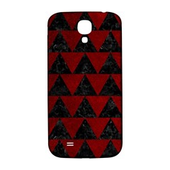 Triangle2 Black Marble & Red Grunge Samsung Galaxy S4 I9500/i9505  Hardshell Back Case by trendistuff
