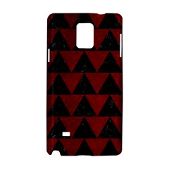 Triangle2 Black Marble & Red Grunge Samsung Galaxy Note 4 Hardshell Case by trendistuff