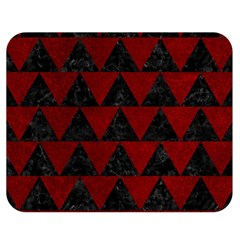 Triangle2 Black Marble & Red Grunge Double Sided Flano Blanket (medium)  by trendistuff