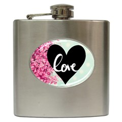 Modern Collage Shabby Chic Hip Flask (6 Oz) by 8fugoso