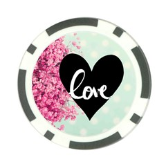 Modern Collage Shabby Chic Poker Chip Card Guard by 8fugoso