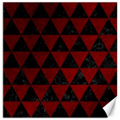 Triangle3 Black Marble & Red Grunge Canvas 20  X 20   by trendistuff