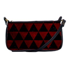 Triangle3 Black Marble & Red Grunge Shoulder Clutch Bags by trendistuff
