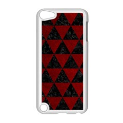 Triangle3 Black Marble & Red Grunge Apple Ipod Touch 5 Case (white) by trendistuff