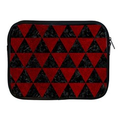 Triangle3 Black Marble & Red Grunge Apple Ipad 2/3/4 Zipper Cases by trendistuff