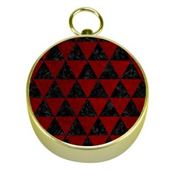 Triangle3 Black Marble & Red Grunge Gold Compasses by trendistuff