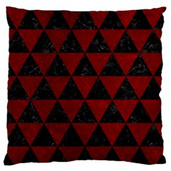 Triangle3 Black Marble & Red Grunge Standard Flano Cushion Case (one Side) by trendistuff