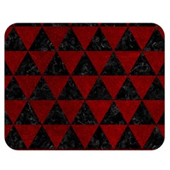 Triangle3 Black Marble & Red Grunge Double Sided Flano Blanket (medium)  by trendistuff