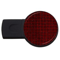 Woven1 Black Marble & Red Grunge Usb Flash Drive Round (4 Gb) by trendistuff