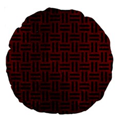 Woven1 Black Marble & Red Grunge Large 18  Premium Round Cushions by trendistuff