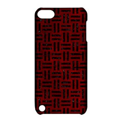Woven1 Black Marble & Red Grunge Apple Ipod Touch 5 Hardshell Case With Stand by trendistuff