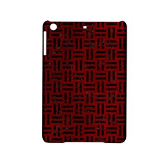 Woven1 Black Marble & Red Grunge Ipad Mini 2 Hardshell Cases by trendistuff
