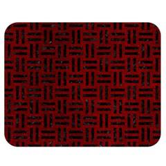 Woven1 Black Marble & Red Grunge Double Sided Flano Blanket (medium)  by trendistuff