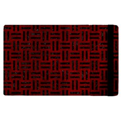 Woven1 Black Marble & Red Grunge Apple Ipad Pro 12 9   Flip Case by trendistuff