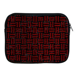 Woven1 Black Marble & Red Grunge (r) Apple Ipad 2/3/4 Zipper Cases by trendistuff