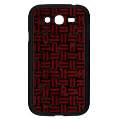 Woven1 Black Marble & Red Grunge (r) Samsung Galaxy Grand Duos I9082 Case (black) by trendistuff