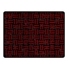 Woven1 Black Marble & Red Grunge (r) Double Sided Fleece Blanket (small)  by trendistuff