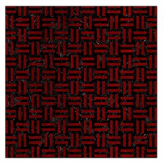 Woven1 Black Marble & Red Grunge (r) Large Satin Scarf (square) by trendistuff