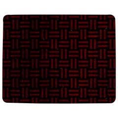 Woven1 Black Marble & Red Grunge (r) Jigsaw Puzzle Photo Stand (rectangular) by trendistuff