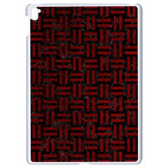 Woven1 Black Marble & Red Grunge (r) Apple Ipad Pro 9 7   White Seamless Case by trendistuff